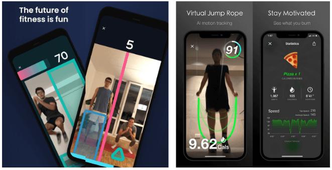 虛擬健身訓練,一台手機就可以達到運動效果